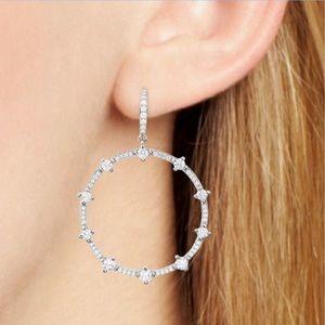 Nadri Issa Pavé Frontal Hoop Drop Earrings